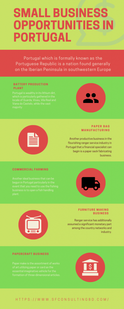 Small Business Opportunities in Portugal Infographic